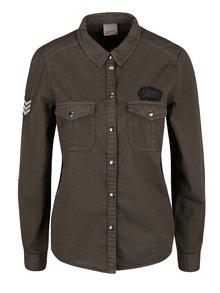 Khaki košile s náprsními kapsami VERO MODA Randy
