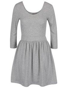 Světle šedé šaty s 3/4 rukávy VERO MODA Maggie