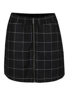 Čierna kockovaná sukňa so zipsom s.Oliver
