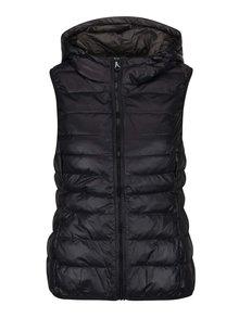 Čierna prešívaná vesta s kapucňou ONLY Tahoe