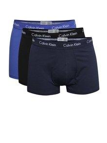 Súprava troch boxeriek v modrej farbe Calvin Klein