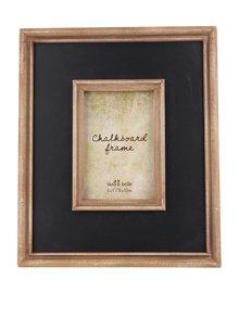 Ramă foto maro cu negru Sass & Belle Chalkboard