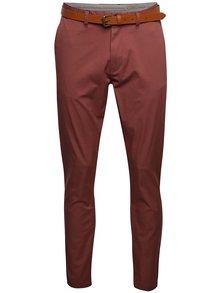 Pantaloni chinos vișinii Selected Homme Hyard