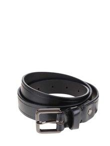 Černý kožený pásek Selected Homme Poul