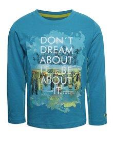 Modré chlapčenské triko s dlhým rukávom Bóboli