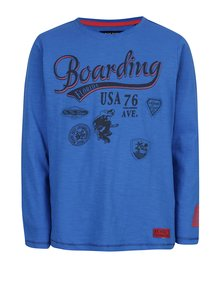 Bluză albastră Blue Seven cu model