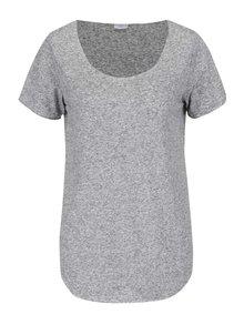 Svetlosivé žíhané tričko s prímesou ľanu Jacqueline de Yong Linette