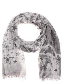 Sivá šatka s motívom hviezd Haily's Estefania