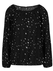 Bluză neagră Haily's Adaline cu imprimeu