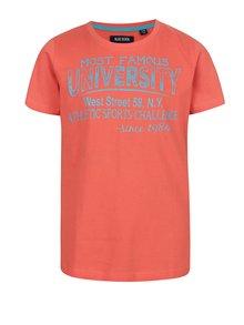 Oranžové chlapčenské tričko s krátkym rukávom Blue Seven