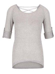 Pulover grej Haily´s Annie cu detalii macrame