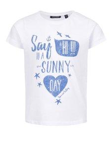 Tricou alb Blue Seven din bumbac cu print pentru fete