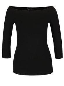 Černé tričko s lodičkovým výstřihem Dorothy Perkins