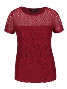 Tricou roșu Dorothy Perkins cu dantelă