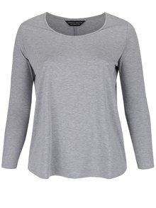 Sivé basic tričko s dlhým rukávom Dorothy Perkins Curve