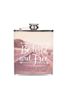 Béžovo-růžová placatka s potiskem Sass & Belle Be wild and free