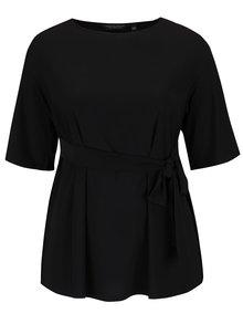 Bluză neagră Dorothy Perkins Curve cu fundă decorativă