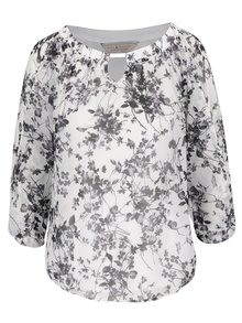 Bluză crem&gri Billie & Blossom cu imprimeu
