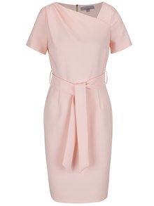 Světle růžové šaty se zavazováním v pase Dorothy Perkins Petite