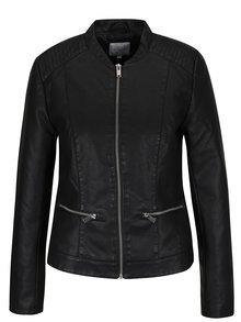 Černá koženková bunda VILA Popular