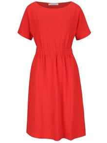 Rochie roșie VILA Calt cu buzunare
