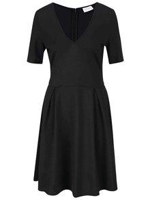 Čierne šaty s véčkovým výstrihom VILA Foama