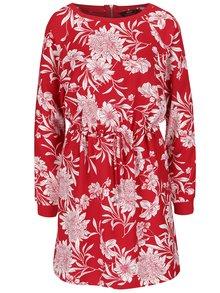 Červené šaty s květovaným vzorem ONLY Flour