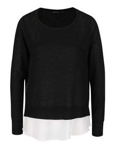 Černý svetr 2v1 s odepínatelným krémovým tílkem ONLY Sue