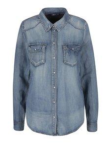 Modrá rifľová košeľa ONLY Stone