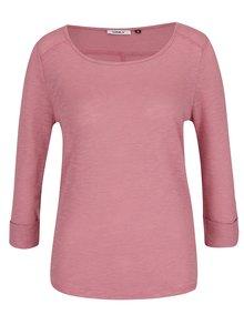 Bluză roz prăfuit ONLY Jess cu manșete îndoite