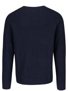 Tmavomodrý melírovaný sveter Jack & Jones Trevor