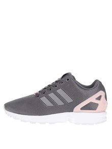 Ružovo-sivé dámske tenisky adidas Originals Flux