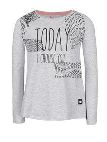 Světle šedé holčičí tričko s dlouhými rukávy 5.10.15.