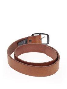 Světle hnědý kožený pásek Jack & Jones Max