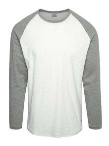 Šedo-krémové triko s dlouhým rukávem Jack & Jones New Stan