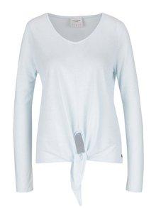 Svetlomodré melírované tričko s prímesou ľanu VERO MODA Lua