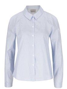 Bielo-modrá pruhovaná košeľa s prestrihmi na rukávoch VERO MODA Gibby