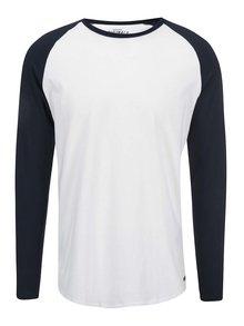 Bílé triko s modrými rukávy Jack & Jones Stan