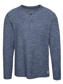 Bluză albastru deschis melange Jack & Jones Sebastian din bumbac