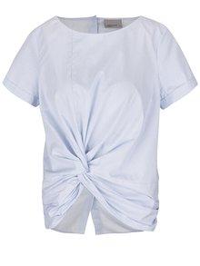 Bielo-modrá pruhovaná blúzka s krátkym rukávom VERO MODA Gibby