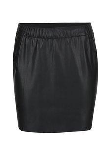 Černá koženková sukně VERO MODA Judy