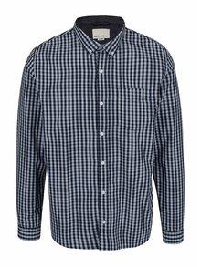 Modrá kockovaná košeľa s dlhým rukávom Shine Original