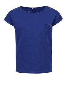 Modré dievčenské tričko s krátkym rukávom name it Iseon