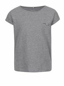 Šedé holčičí tričko s krátkým rukávem name it Iseon