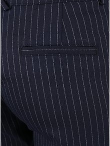 Pantaloni albastru inchis Rich & Royal cu model in dungi