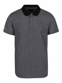 Tricou polo gri Burton Menswear London din bumbac cu model
