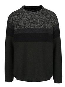 Sivo-zelený sveter Burton Menswear London