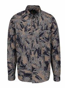 Cămașă maro & albastru Burton Menswear London din bumbac cu model