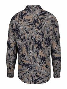 Modro-hnedá vzorovaná košeľa Burton Menswear London
