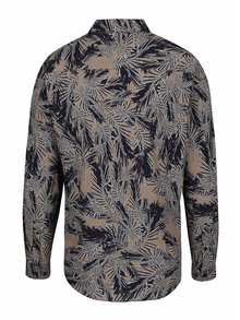 Camasa maro&albastru cu print tropical Burton Menswear London